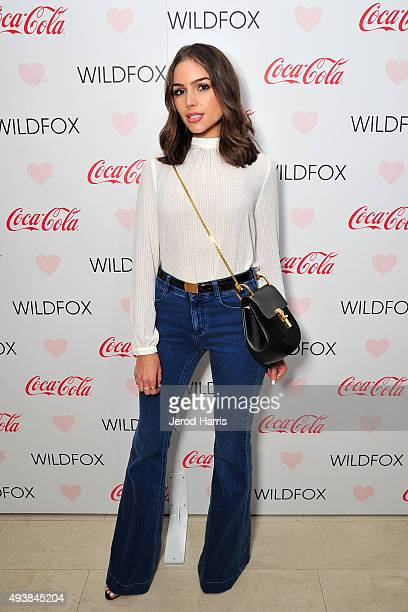 Olivia Culpo attends the Launch Party for WILDFOX Loves CocaCola Capsule Collection on October 22 2015 in West Hollywood California