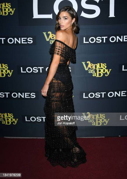 """Olivia Culpo attends the Los Angeles premiere of """"Venus as a Boy"""" Pre-Party at Lombardi House on September 22, 2021 in Los Angeles, California."""
