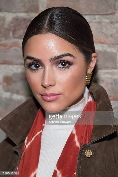 Olivia Culpo attends the Maiyet fashion show during Fall 2016 New York Fashion Week at Cedar Lake on February 15 2016 in New York City
