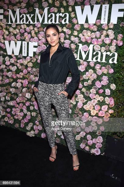 Olivia Culpo attends the Max Mara Celebrates Zoey Deutch As The 2017 Women In Film Max Mara Face Of The Future Award Recipient event at Chateau...