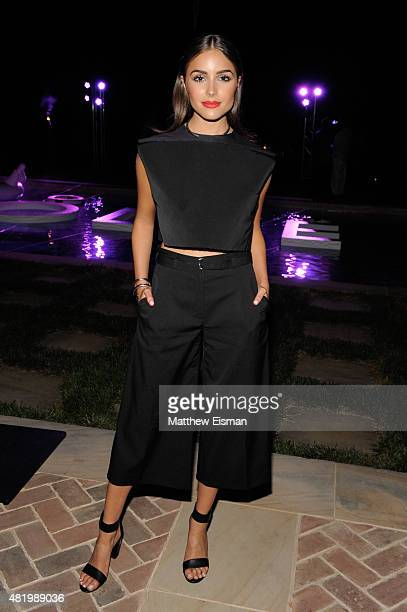 Olivia Culpo attends The REVOLVE Hamptons House on July 25 2015 in Sagaponack New York
