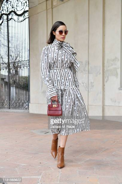 Olivia Culpo attends the Salvatore Ferragamo show during Milan Fashion Week Autumn/Winter 2019/20 on February 23 2019 in Milan Italy