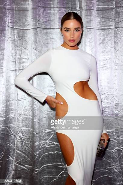 Olivia Culpo attends the Sports Illustrated Swimsuit celebration of the launch of the 2021 Issue at Seminole Hard Rock Hotel & Casino on July 23,...