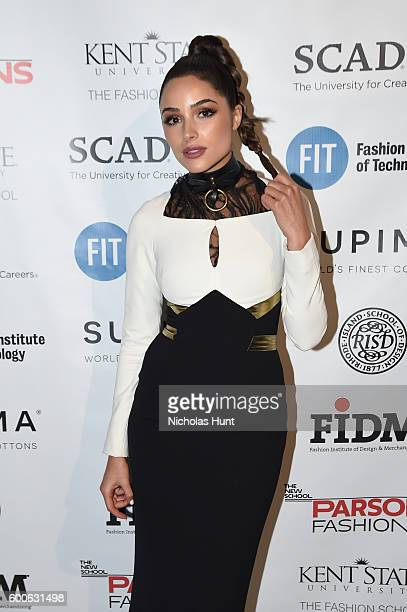 Olivia Culpo attends the Supima Design Competition 2016 during New York Fashion Week September 2016 at The Gallery Skylight at Clarkson Sq on...