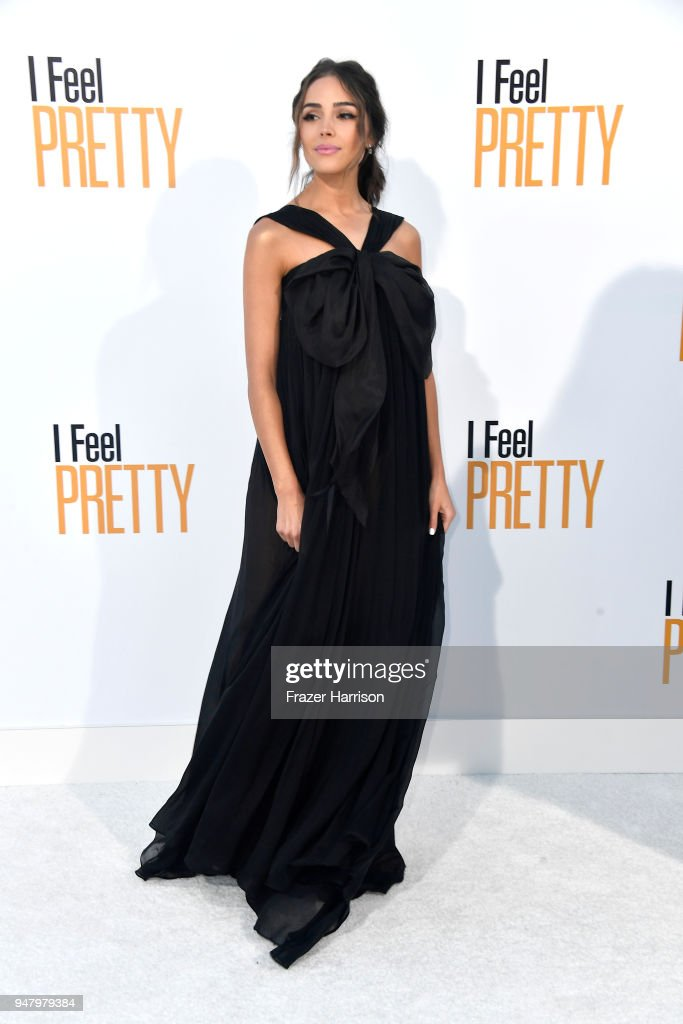 Olivia Culpo atttends the Premiere Of STX Films' 'I Feel Pretty' at Westwood Village Theatre on April 17, 2018 in Westwood, California.