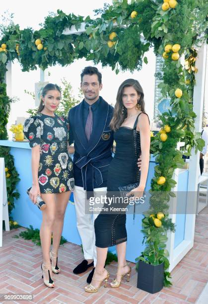 Olivia Culpo David Gandy and Bianca Balti attend the Dolce Gabbana Light Blue Italian Zest Launch Event at the NoMad Hotel Los Angeles on May 17 2018...
