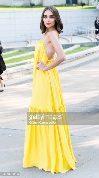 Olivia Culpo is seen arriving to the 2018 CFDA Fashion Awards at Brooklyn Museum on June 4 2018 in New York City