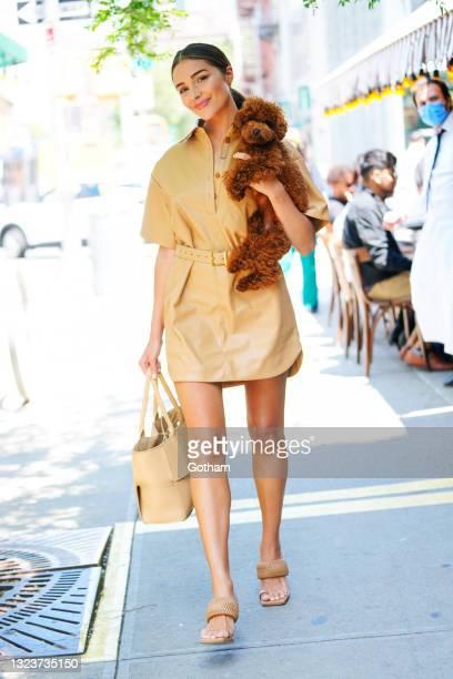 Olivia Culpo is seen at Gemma on June 15, 2021 in New York City.