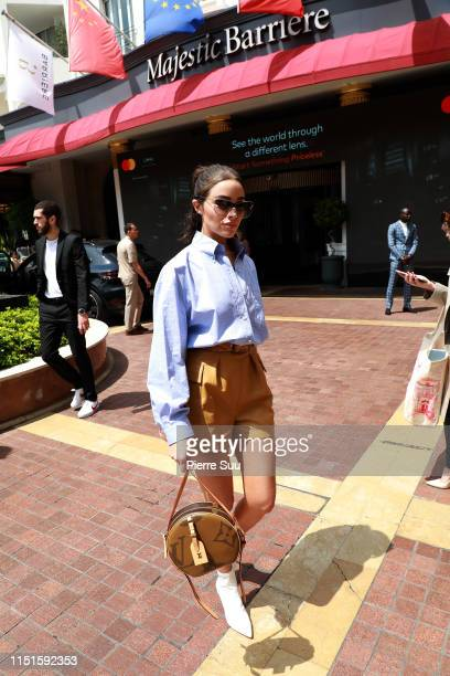 Olivia Culpo is seen at Le Majestic Hotel during the 72nd annual Cannes Film Festival at on May 25 2019 in Cannes France