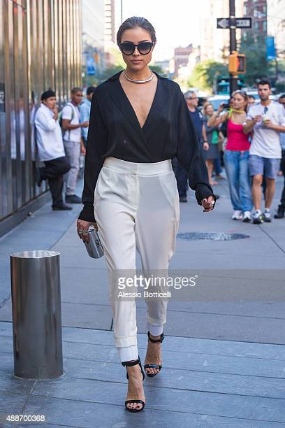 Olivia Culpo is seen Downtown on September 16 2015 in New York City
