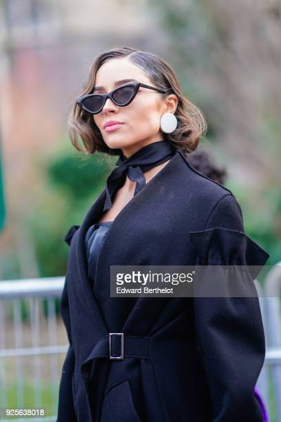 Olivia Culpo is seen during Paris Fashion Week Womenswear Fall/Winter 2018/2019 on February 28 2018 in Paris France