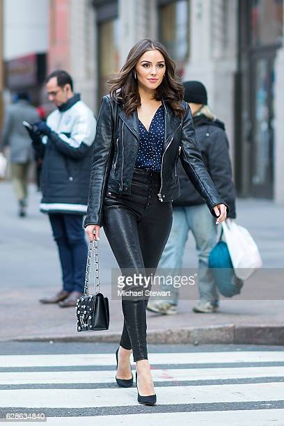 Olivia Culpo is seen in Midtown on December 8 2016 in New York City