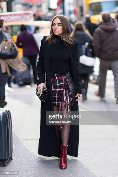 Olivia Culpo is seen in Midtown on December 9 2016 in New York City