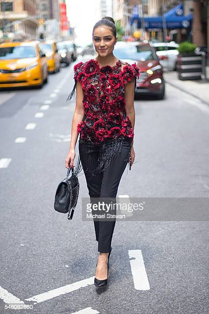Olivia Culpo is seen in Midtown on July 10 2016 in New York City