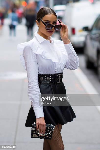 Olivia Culpo is seen in Midtown on June 7 2017 in New York City