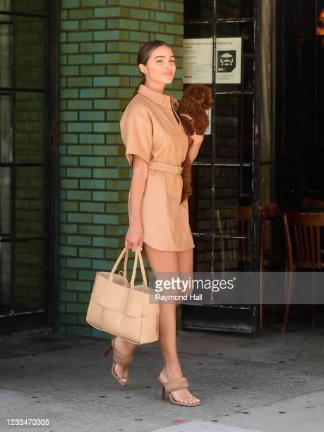 Olivia Culpo is seen in SoHo on June 15, 2021 in New York City.