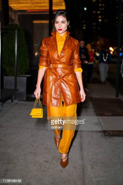 Olivia Culpo is seen in the Flatiron District on February 07 2019 in New York City