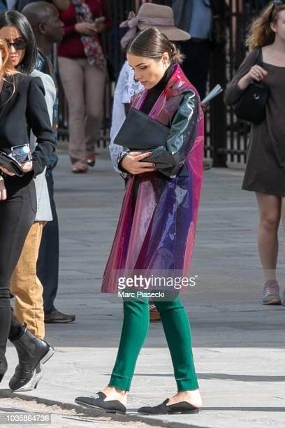 Olivia Culpo is seen leaving NotreDameDeParis on September 19 2018 in Paris France