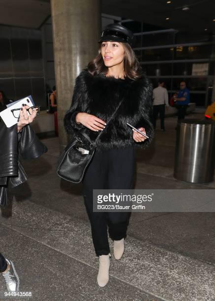Olivia Culpo is seen on April 11 2018 in Los Angeles California