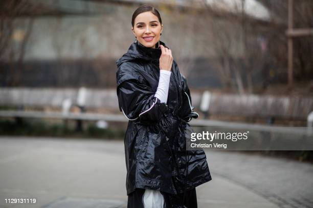 Olivia Culpo is seen outside Proenza Schouler during New York Fashion Week Autumn Winter 2019 on February 11, 2019 in New York City.