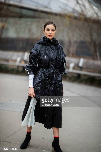 Olivia Culpo is seen outside Proenza Schouler during New York Fashion Week Autumn Winter 2019 on February 11 2019 in New York City