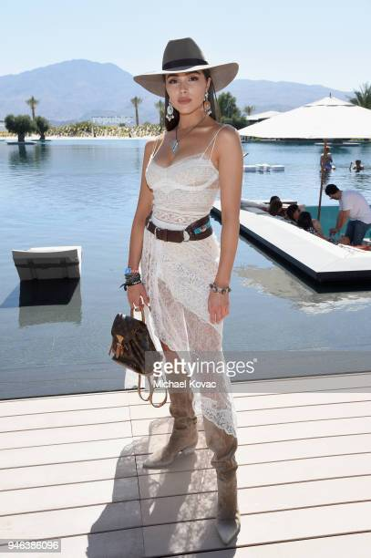 Olivia Culpo parties with Dream Hotels at Republic Records and Dream Hotels present The Estate at Zenyara on April 14 2018 in Coachella California