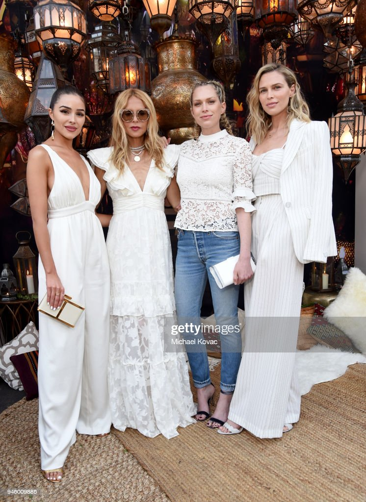 Olivia Culpo, Rachel Zoe, Erin Foster and Sara Foster attend Rachel Zoe's 4th Annual ZOEasis at Parker Palm Springs on April 13, 2018 in Palm Springs, California.