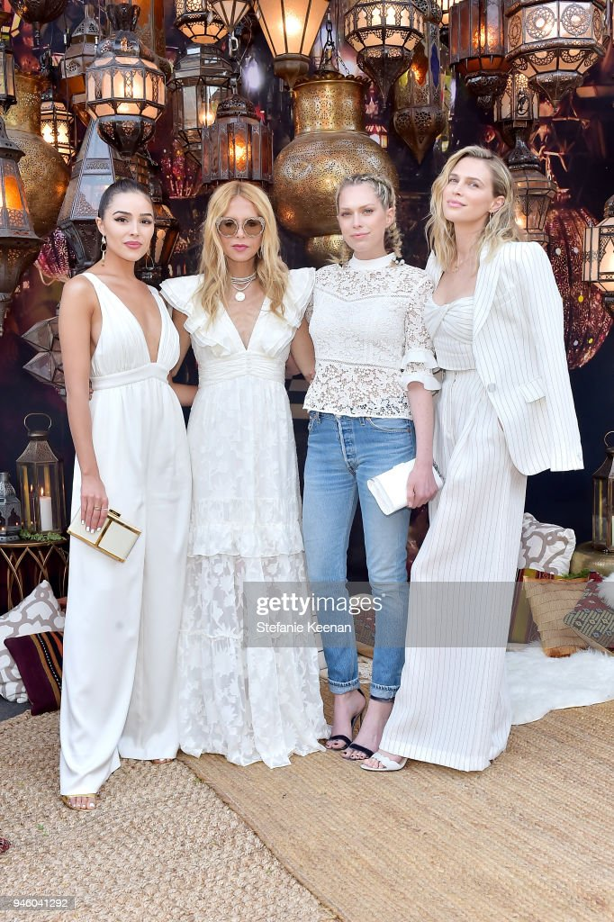Olivia Culpo, Rachel Zoe, Erin Foster and Sara Foster attend ZOEasis 2018 at Parker Palm Springs on April 13, 2018 in Palm Springs, California.