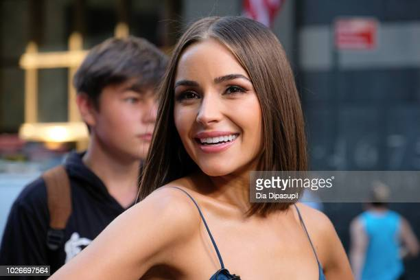 Olivia Culpo visits Extra on September 4 2018 in New York City