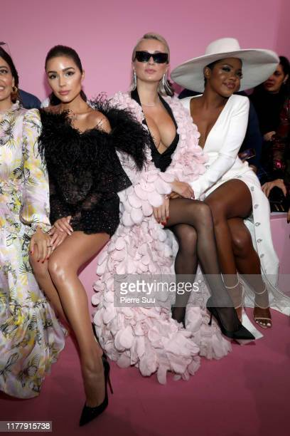 Olivia CulpoCaroline Vreeland and Ryan destiny attends the Ralph Russo Womenswear Spring/Summer 2020 show as part of Paris Fashion Week at Le...