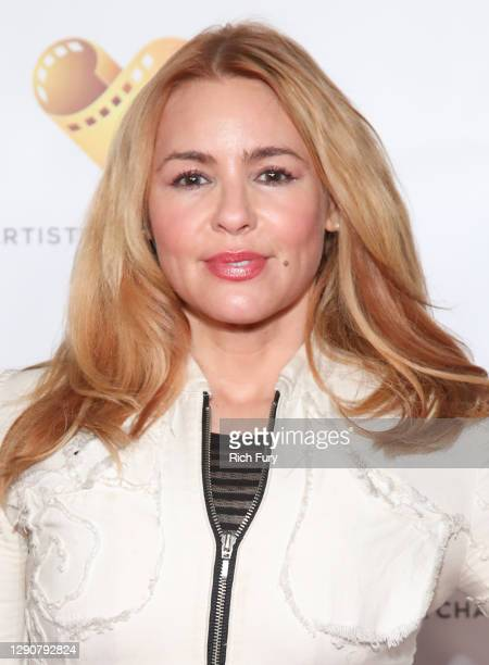 """Olivia d'Abo attends the drive-in premiere of Freestyle Digital Media's """"Angie: Lost Girls"""" at Arena Cinelounge Sunset on December 11, 2020 in Los..."""