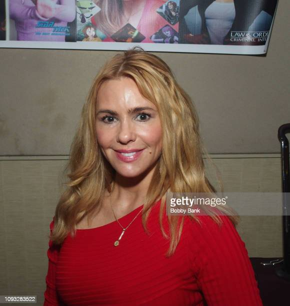Olivia d'Abo attends The Hollywood Autograph Show at The Westin Los Angeles Airport on February 2, 2019 in Los Angeles, California.