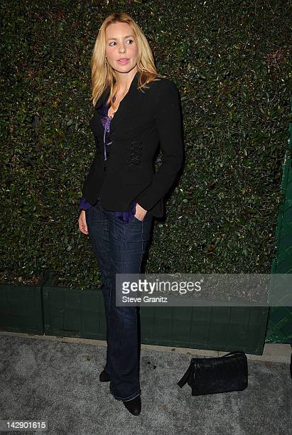 Olivia d'Abo attends world premiere of My Valentine video premiere on April 13 2012 in West Hollywood California