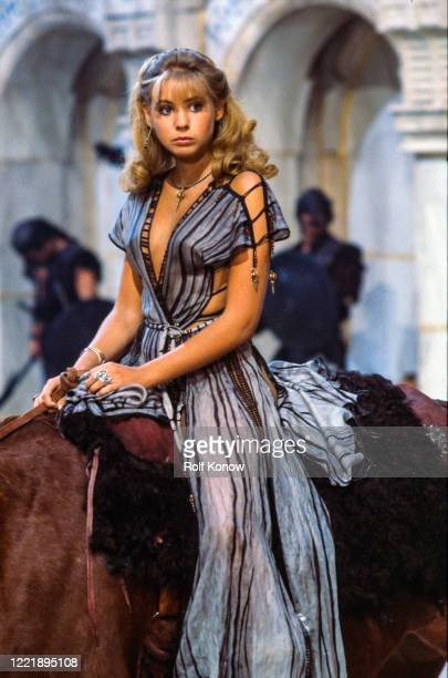 """Olivia D'Abo in """"Conan the Destroyer"""", directed by Richard Fleischer, Mexico City, Mexico, 1983"""
