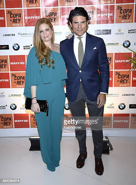 Olivia de Borbon and Juan Porras attend the XXXV Copa del Rey Mapfre sailing trophy presentation at Las Letras Hotel on May 25 2016 in Madrid Spain