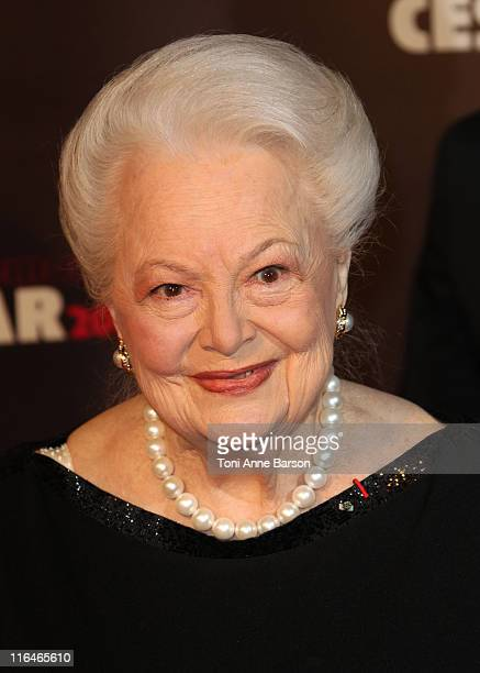 Olivia de Havilland arrives at the 36th Cesar Awards at Theatre du Chatelet on February 25 2011 in Paris France