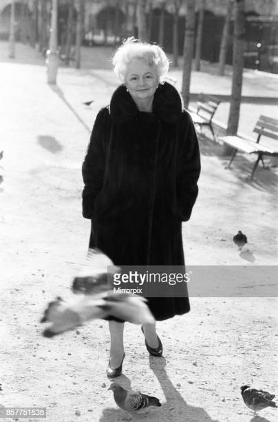 Olivia de Havilland near her home in Paris, 10th December 1987.