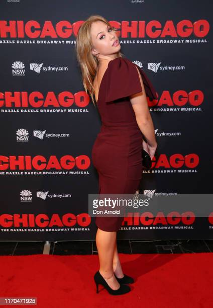 Olivia Deeble attends opening night of CHICAGO at Capitol Theatre on August 27 2019 in Sydney Australia