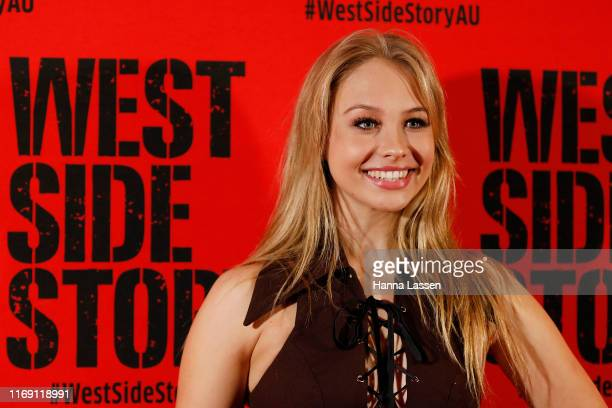 Olivia Deeble attends opening night of West Side Story at Sydney Opera House on August 20 2019 in Sydney Australia