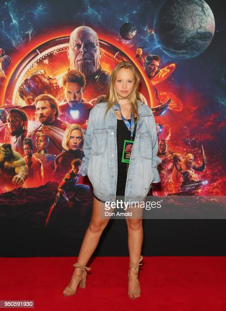 Olivia Deeble attends the Avengers Infinity War Special Event Screening on April 24 2018 in Sydney Australia