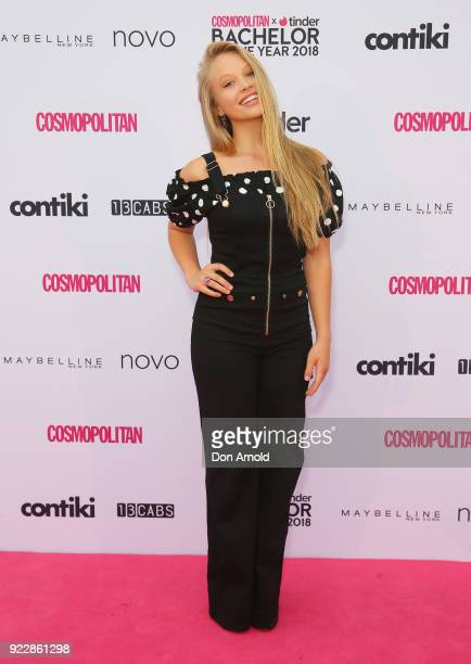 Olivia Deeble attends the Cosmopolitan Tinder Bachelor of the Year Awards on February 22 2018 in Sydney Australia