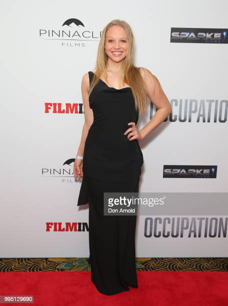 Olivia Deeble attends the Occupation world premiere on July 10 2018 in Sydney Australia