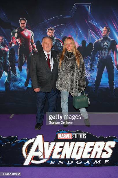 Olivia Deeble poses ahead of the special screening of Marvel Studios' Avengers Endgame at IMAX Melbourne Museum on April 23 2019 in Melbourne...