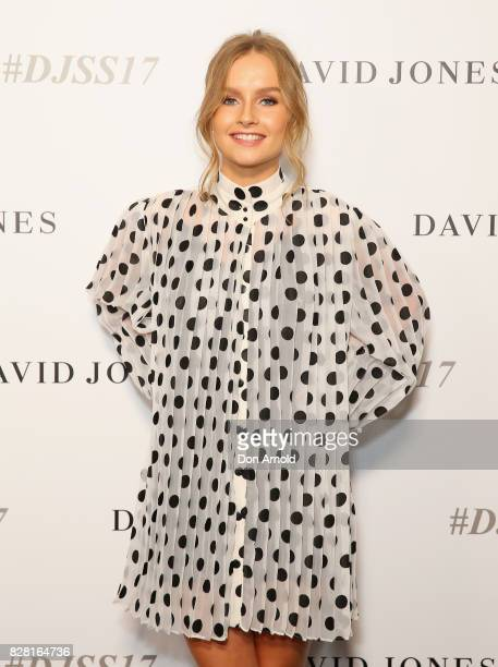 Olivia Dion arrives ahead of the David Jones Spring Summer 2017 Collections Launch at David Jones Elizabeth Street Store on August 9 2017 in Sydney...