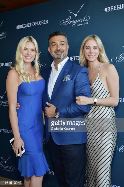 Olivia Doneff Ahmad Shahriar and Lauren Shahriar attend Breguet Marine Collection Launch at Little Beach House Malibu on July 11 2019 in Malibu...