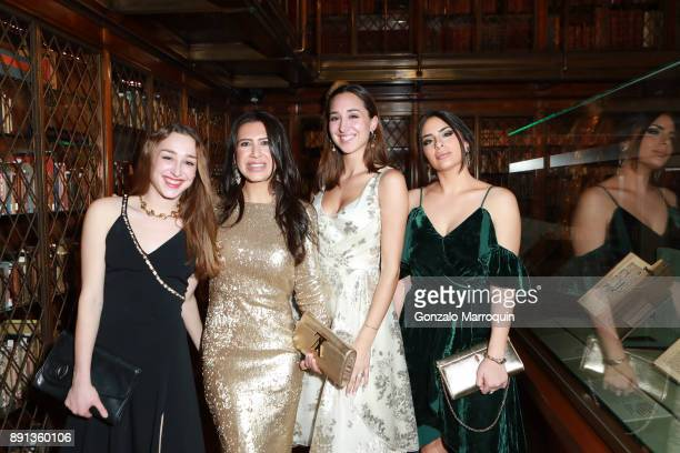 Olivia Drubner Ariana Fodera Celeste Drubner and Kristin Cara during the Mr Morgan's Winter Gala at The Morgan Library Museum on December 12 2017 in...