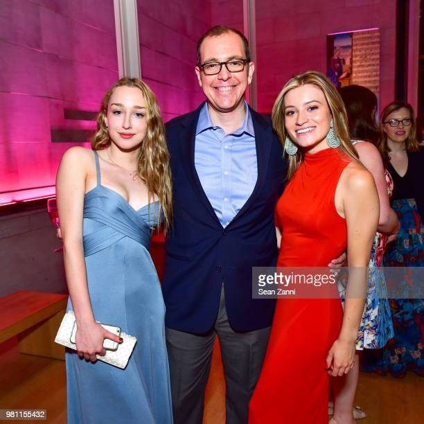 Olivia Drubner Eric Mandl and Quincy Morgan attend Mr Morgan's Summer Soiree at The Morgan Library Museum on June 21 2018 in New York City