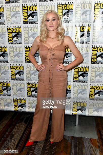 Olivia Dudley attends the 'The Magicians' Press Line during ComicCon International 2018 at Hilton Bayfront on July 21 2018 in San Diego California