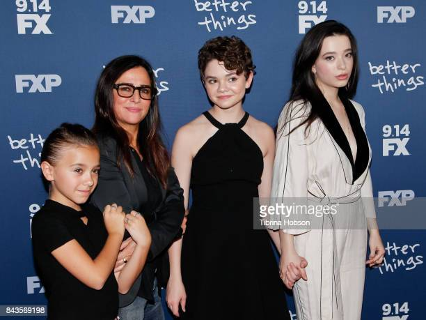 Olivia Edward Pamela Adlon Hannah Alligood and Mikey Madison attend the premiere of FX's 'Better Things' season 2 at Pacific Design Center on...