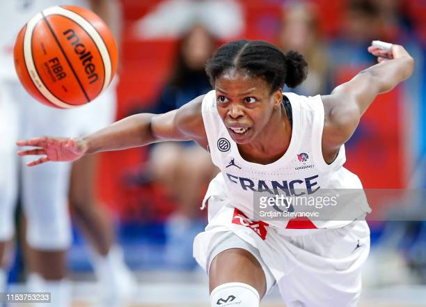 Olivia Epoupa of France in action during the FIBA Women's Eurobasket 2019 quarterfinals match between France and Belgium on July 4 2019 in Belgrade...
